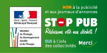 Stop Pub Autocollant du Ministère
